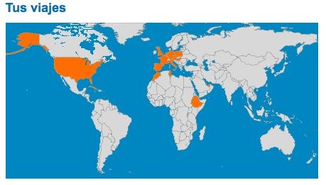 Mapas De Paises Visitados Viajeras Callejeras